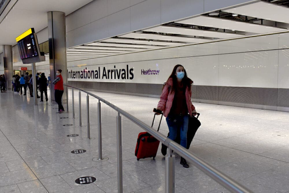 Heathrow mask arrivals testing