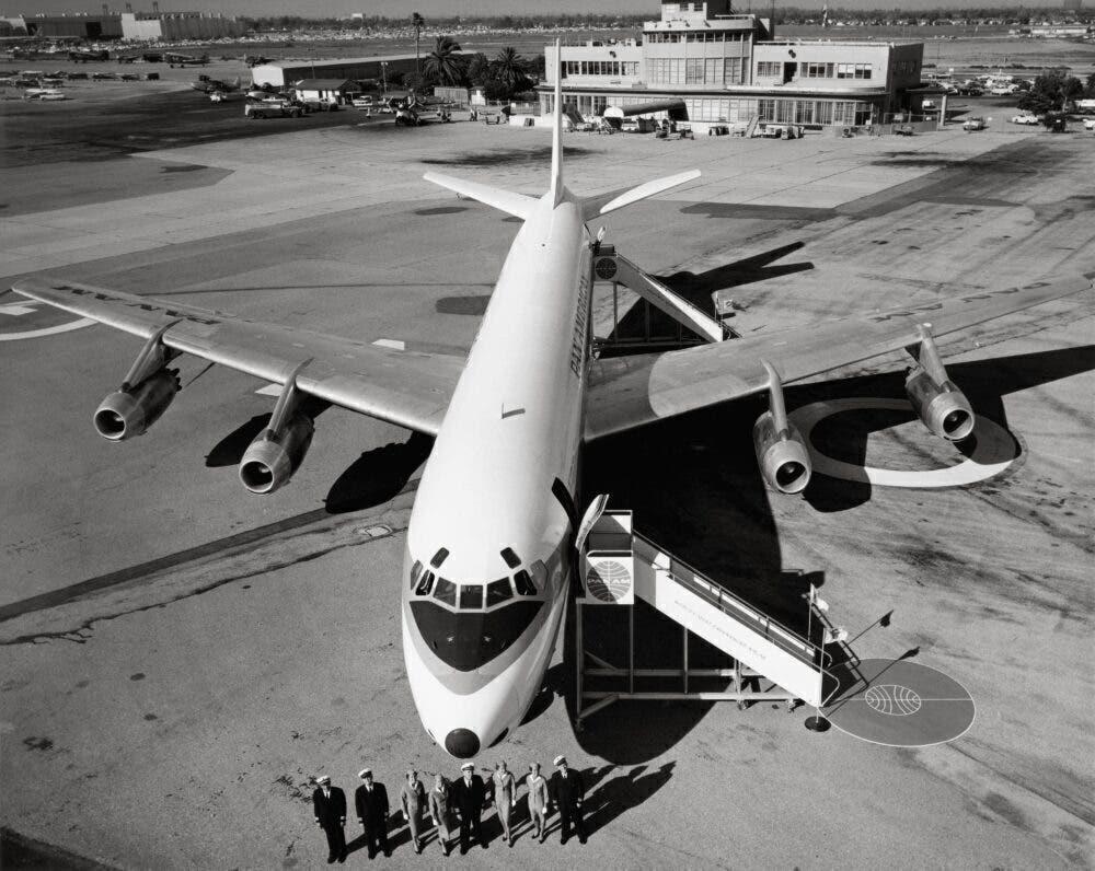 Douglas DC-8 airliner, 1961.