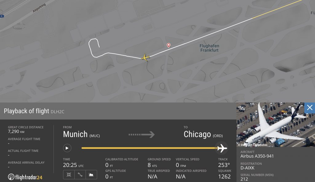 LH434 Landing in Frankfurt
