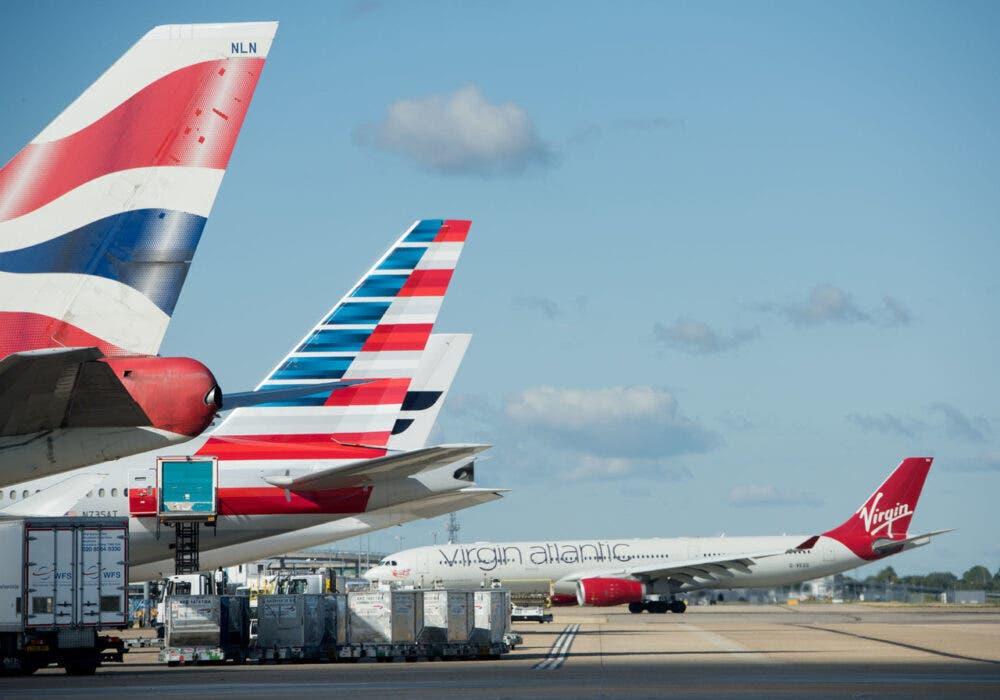 American Airlines, Virgin Atlantic, Heathrow Airport