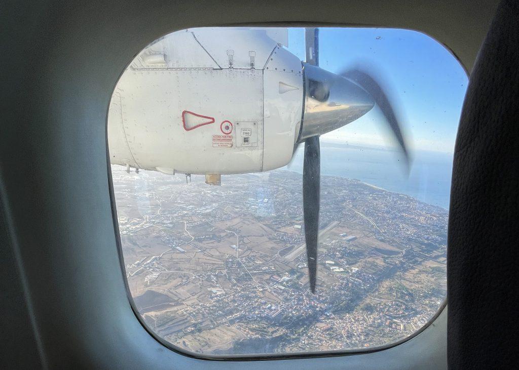 Dornier 228 Sevenair window view